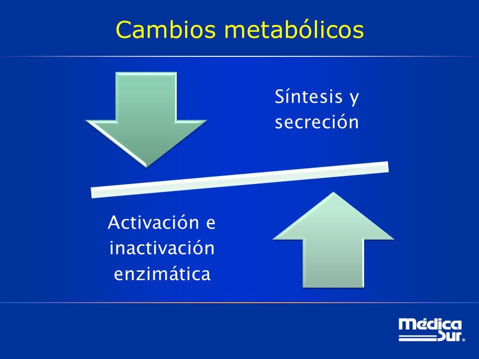 Activación e inactivación enzimática