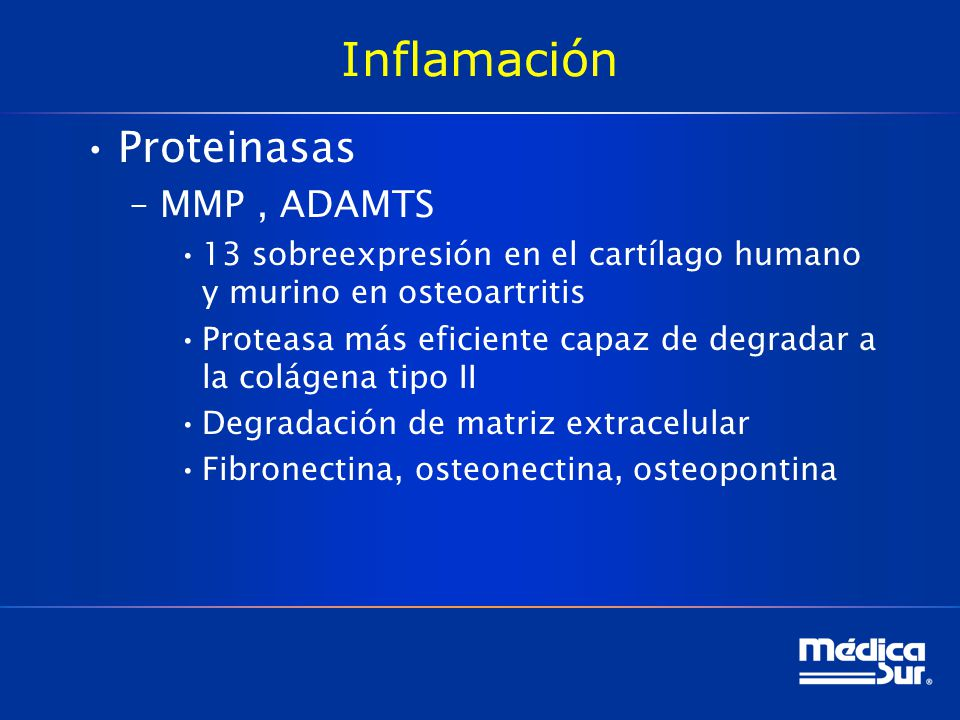 Inflamación Proteinasas MMP , ADAMTS