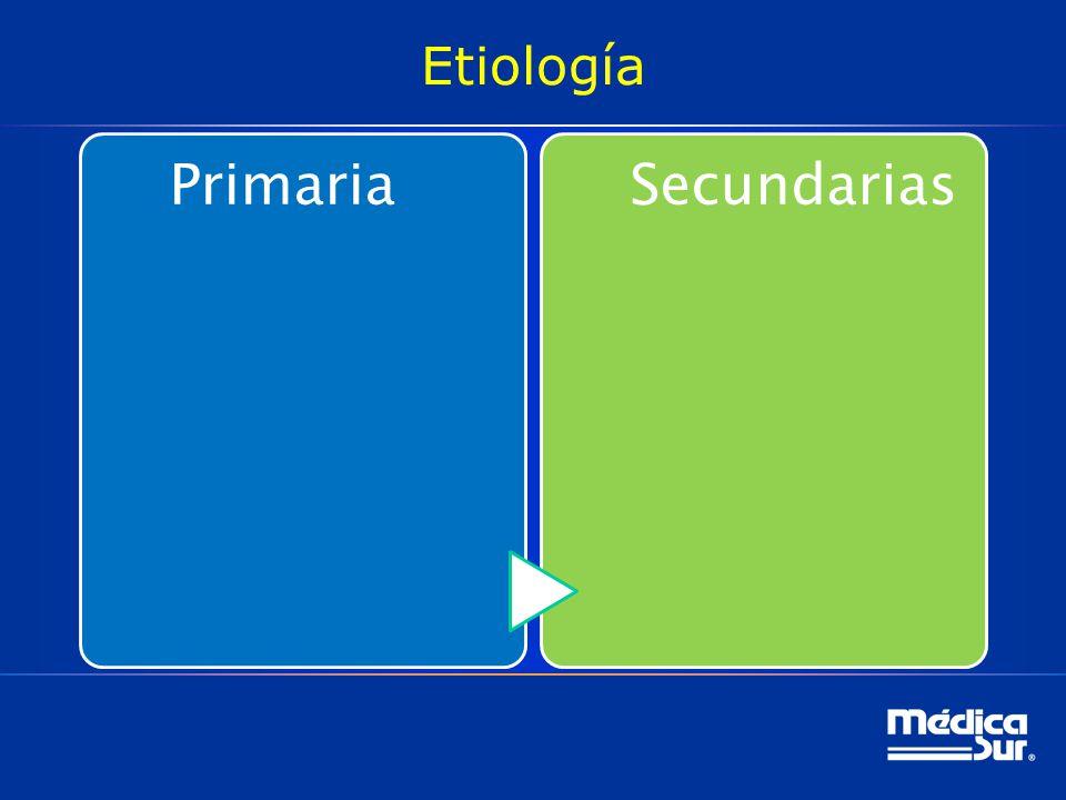 Etiología Primaria Secundarias