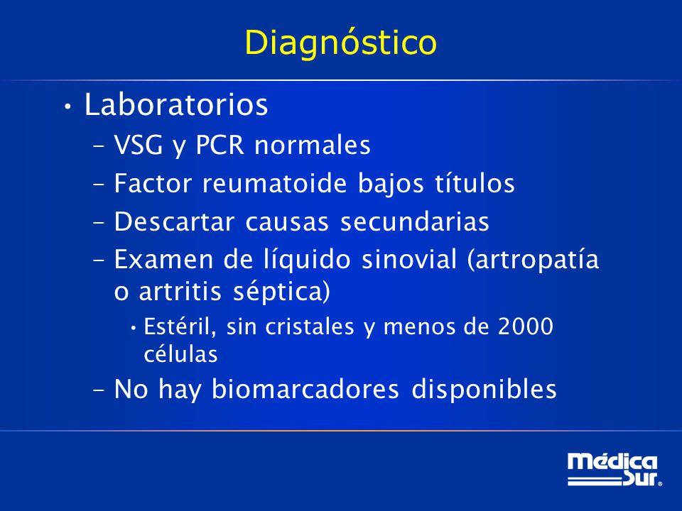 Diagnóstico Laboratorios VSG y PCR normales