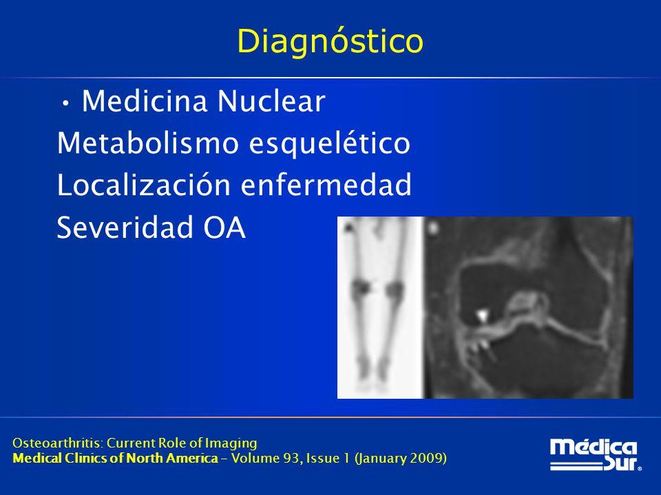 Diagnóstico Medicina Nuclear Metabolismo esquelético