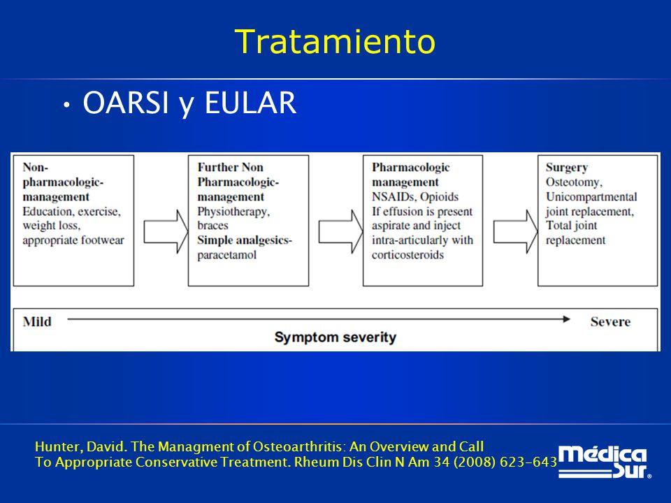 Tratamiento OARSI y EULAR