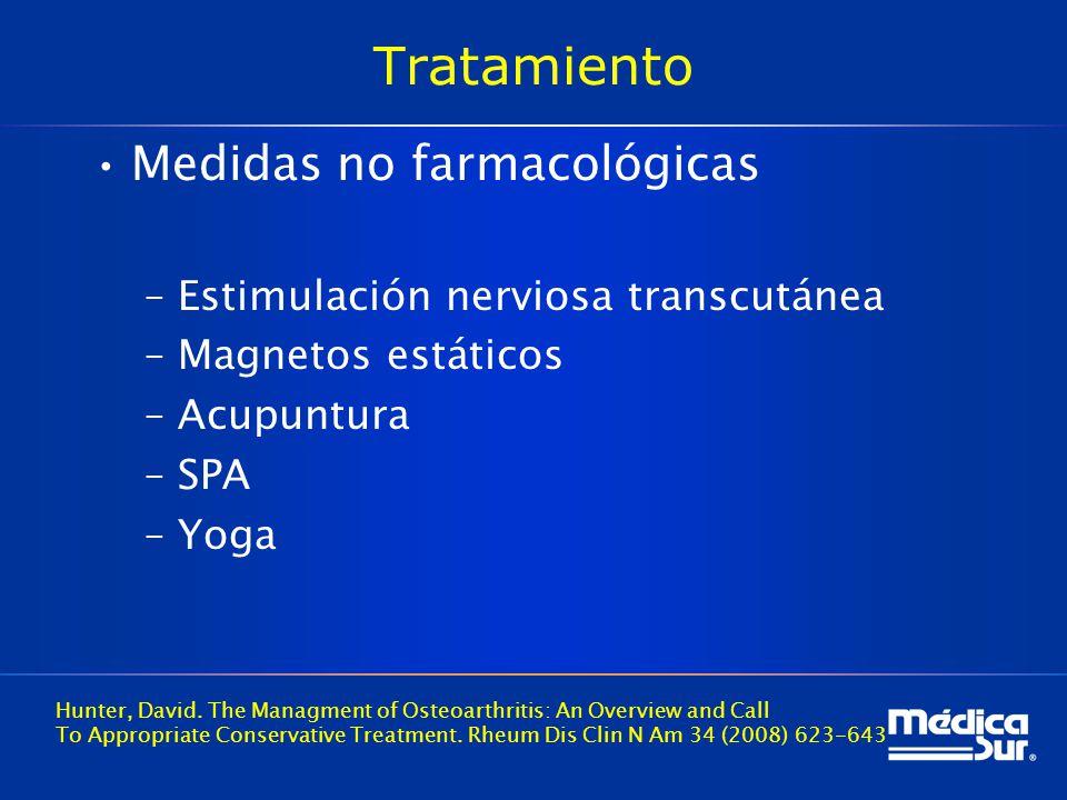 Tratamiento Medidas no farmacológicas