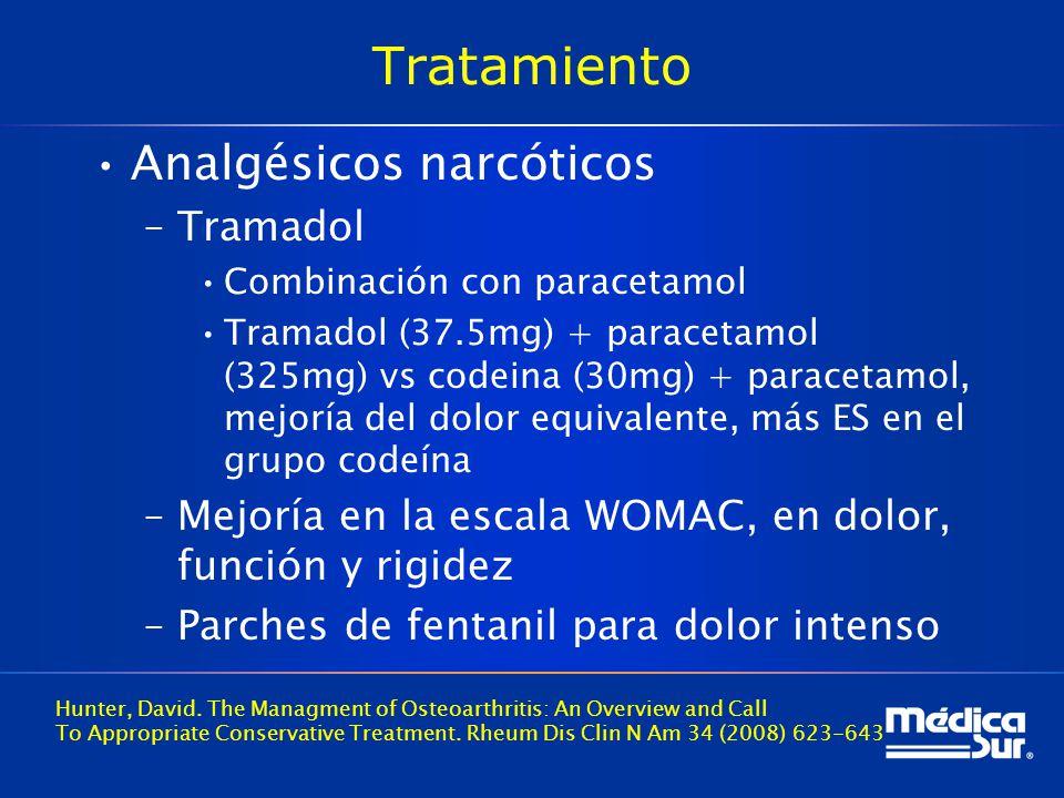 Tratamiento Analgésicos narcóticos Tramadol