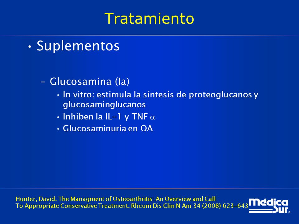 Tratamiento Suplementos Glucosamina (Ia)