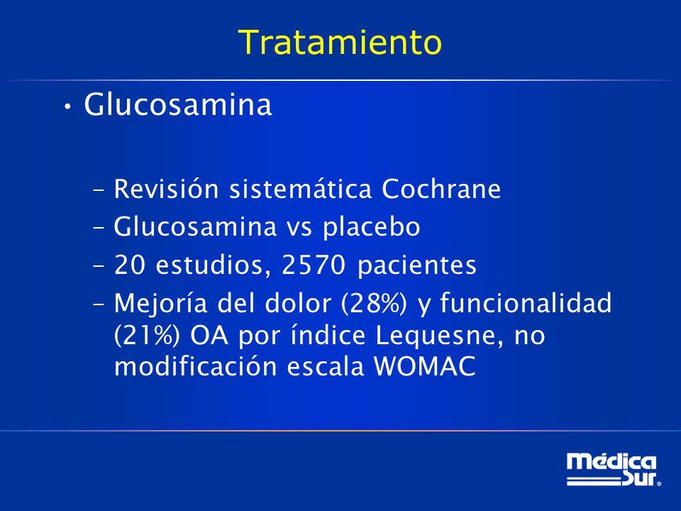 Tratamiento Glucosamina Revisión sistemática Cochrane