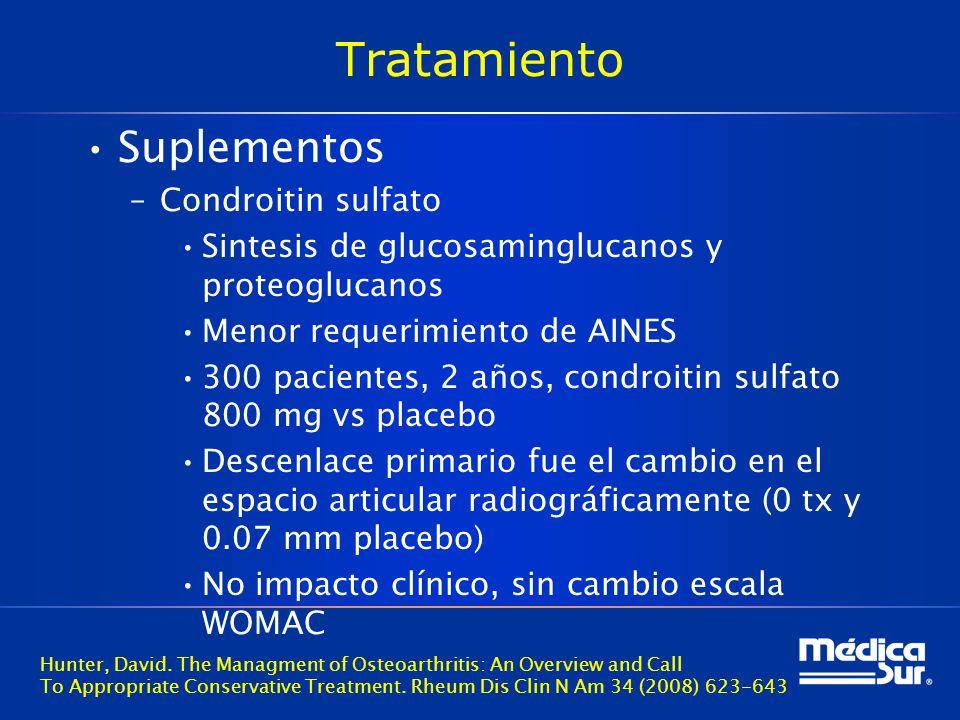 Tratamiento Suplementos Condroitin sulfato