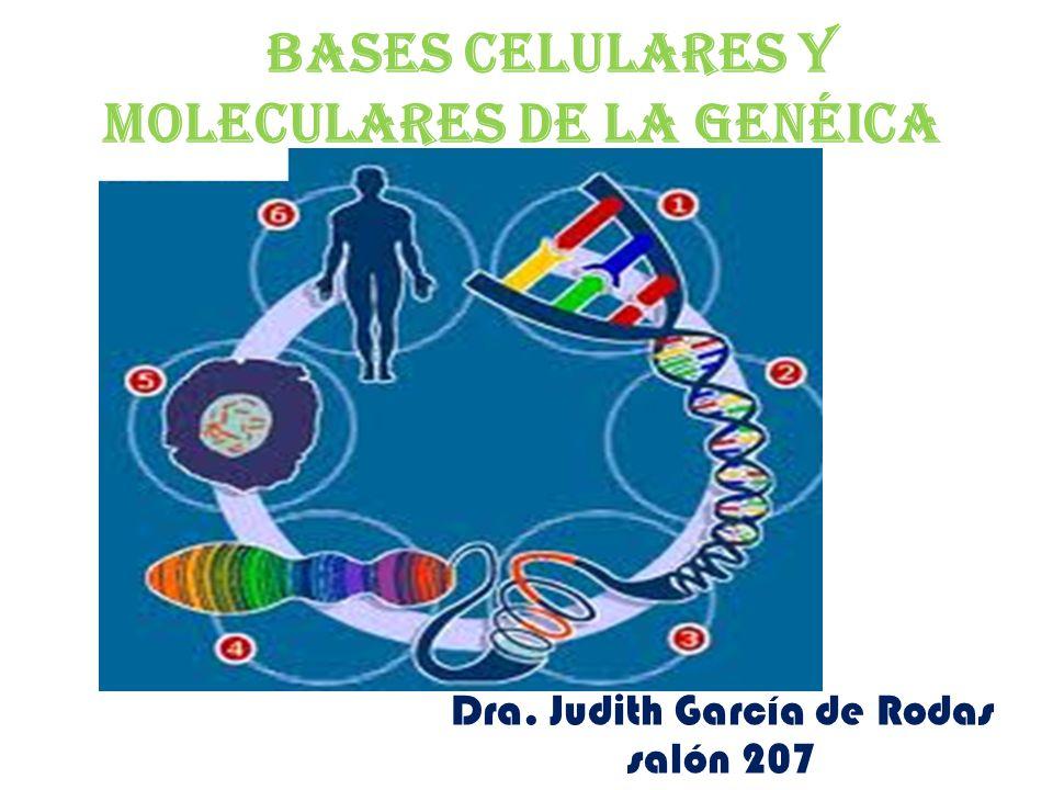 Bases celulares y moleculares de la genéica