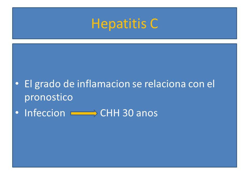 Hepatitis C El grado de inflamacion se relaciona con el pronostico
