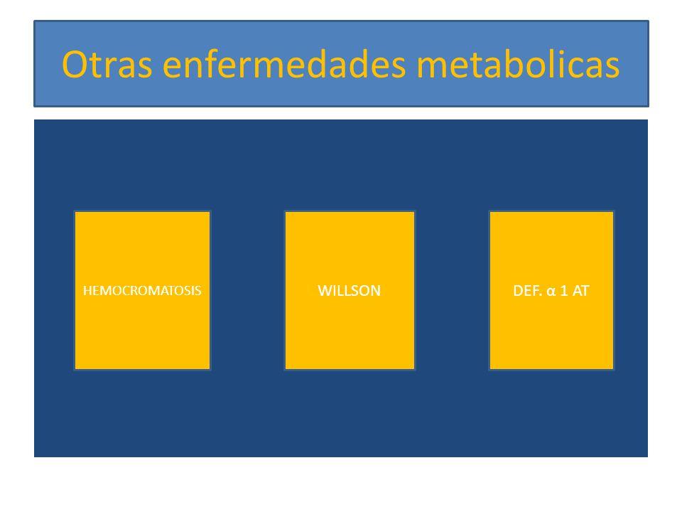 Otras enfermedades metabolicas