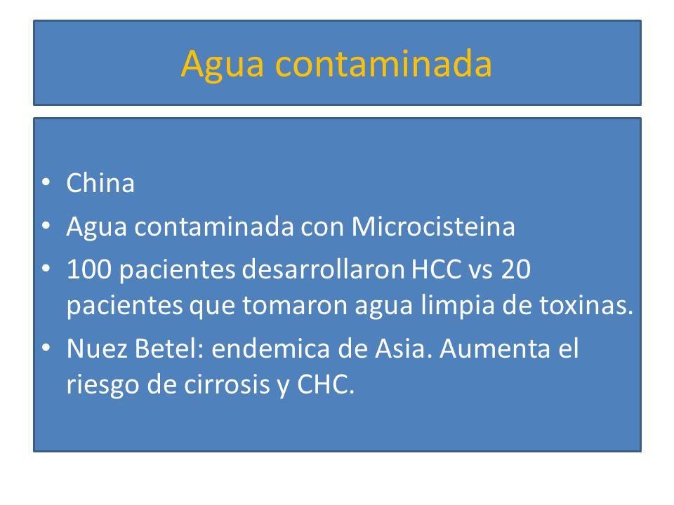 Agua contaminada China Agua contaminada con Microcisteina