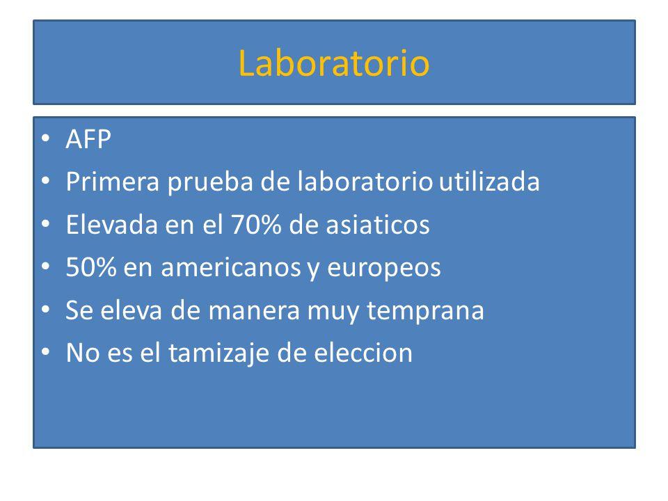 Laboratorio AFP Primera prueba de laboratorio utilizada