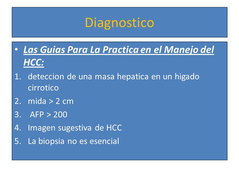 Diagnostico Las Guias Para La Practica en el Manejo del HCC: