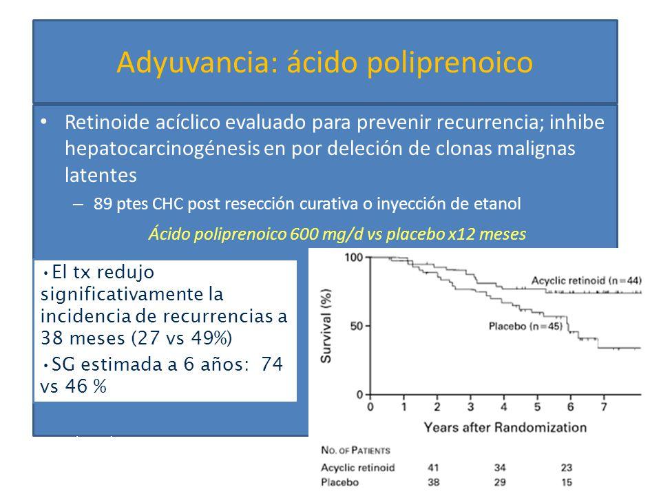 Adyuvancia: ácido poliprenoico