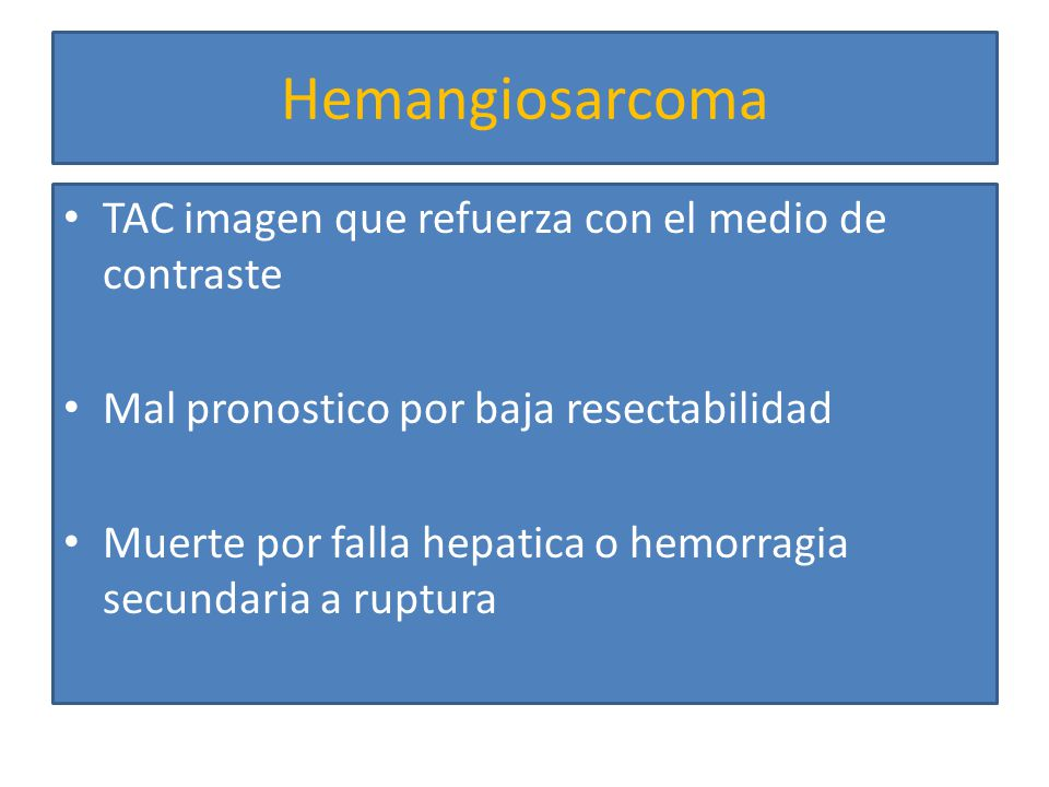 Hemangiosarcoma TAC imagen que refuerza con el medio de contraste