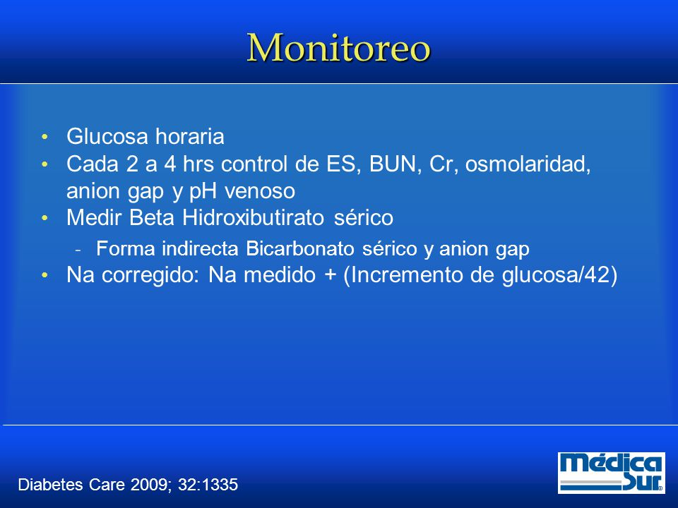 Monitoreo Glucosa horaria