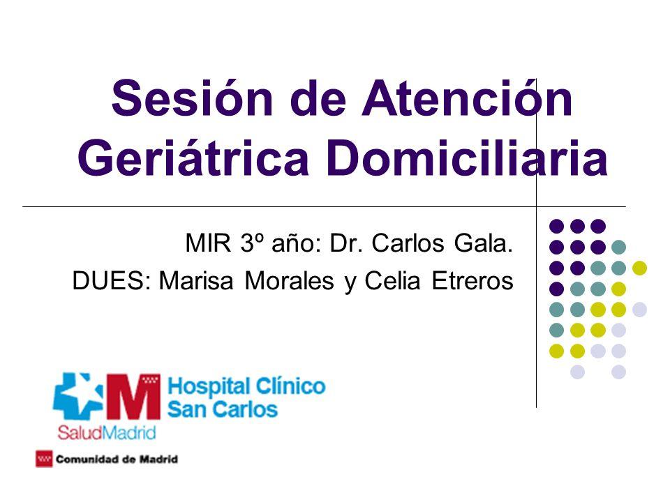 Sesión de Atención Geriátrica Domiciliaria