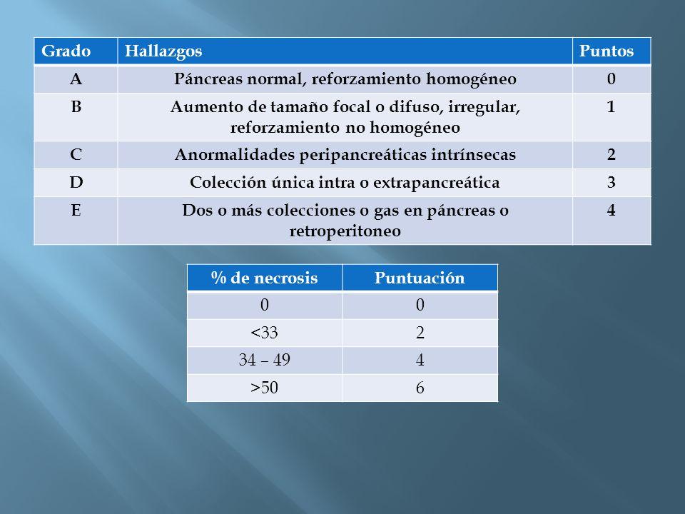 Páncreas normal, reforzamiento homogéneo B