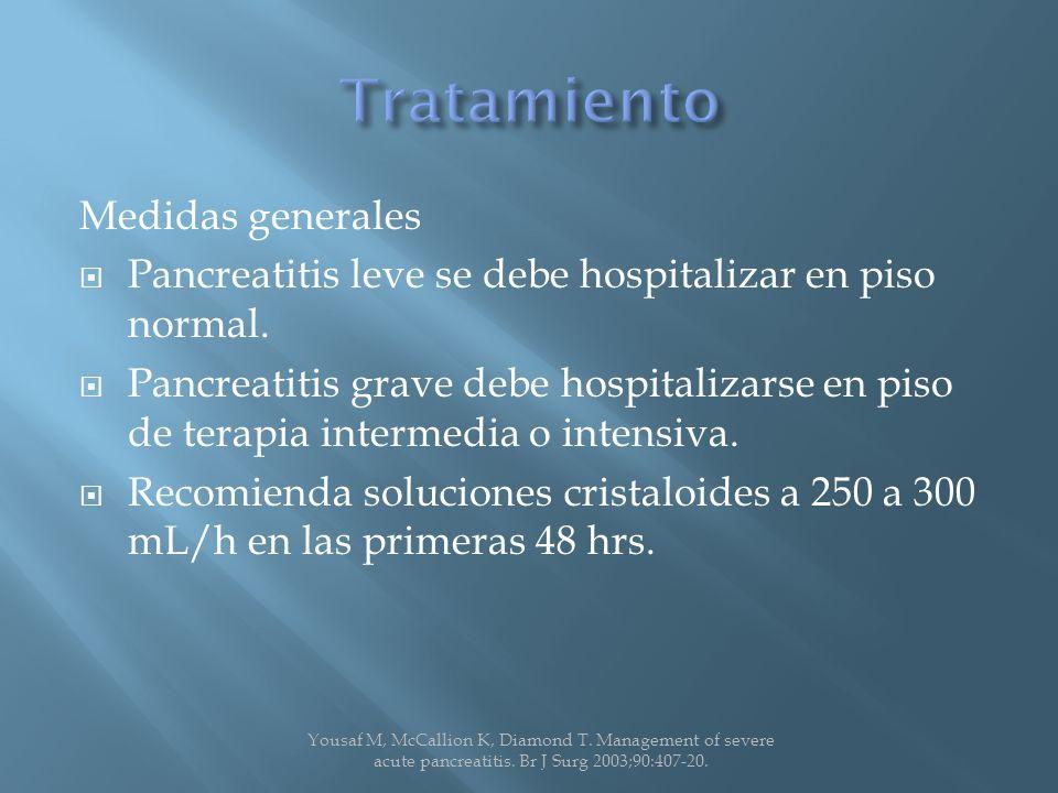 Tratamiento Medidas generales