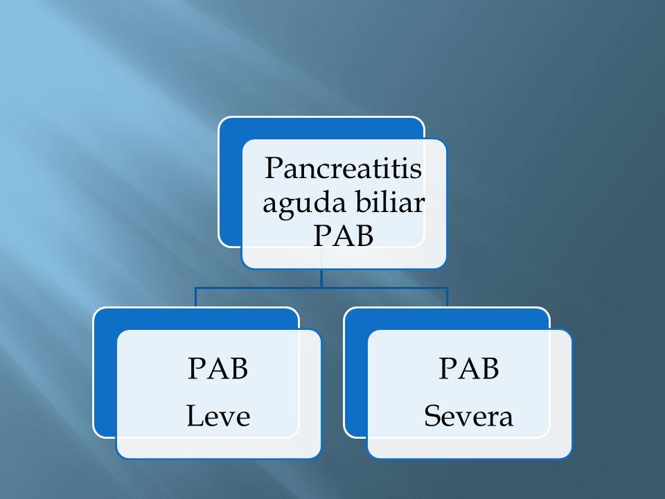 Pancreatitis aguda biliar PAB