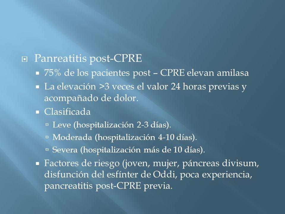 Panreatitis post-CPRE