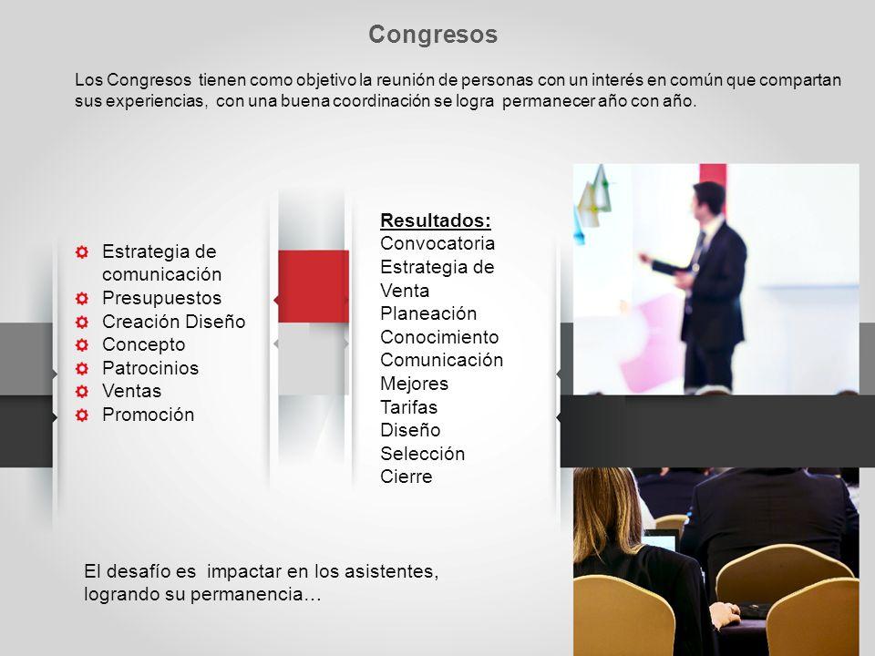 Congresos Resultados: Convocatoria Estrategia de Venta