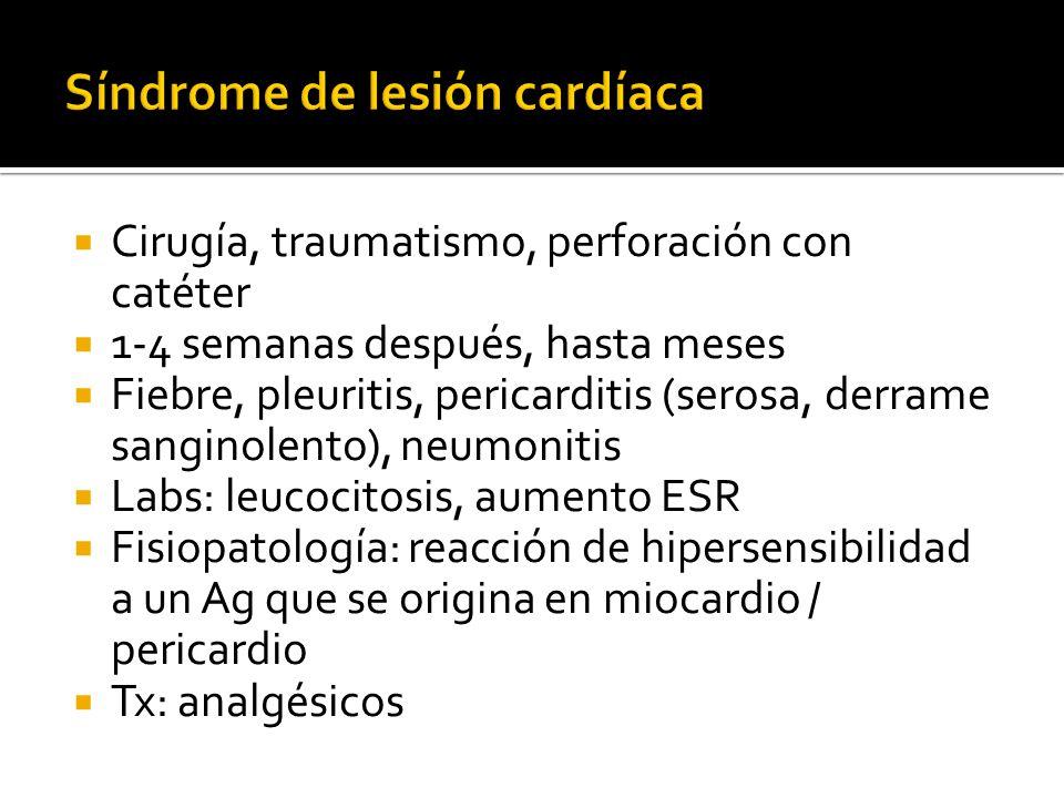 Síndrome de lesión cardíaca