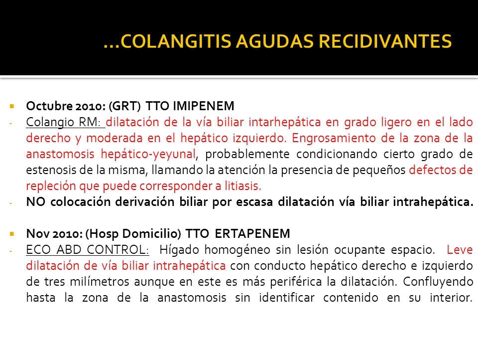 …COLANGITIS AGUDAS RECIDIVANTES