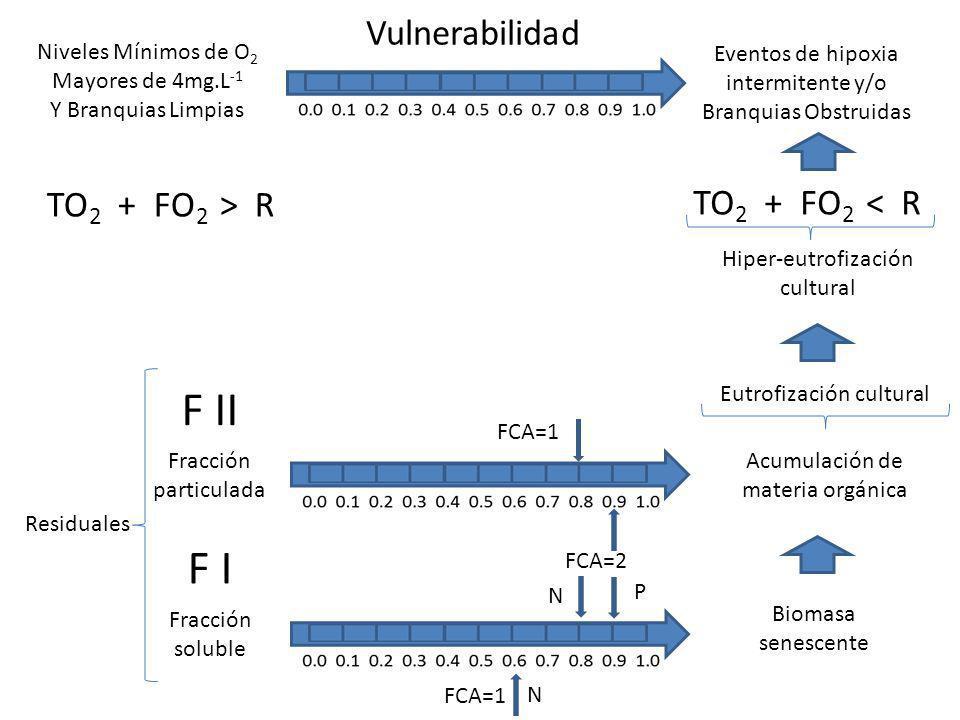 F II F I Vulnerabilidad TO2 + FO2 > R TO2 + FO2 < R