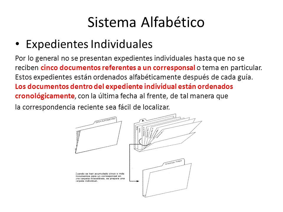 Sistema Alfabético Expedientes Individuales