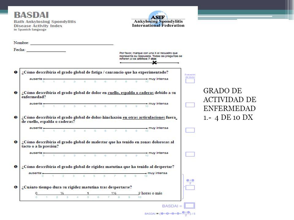 GRADO DE ACTIVIDAD DE ENFERMEDAD