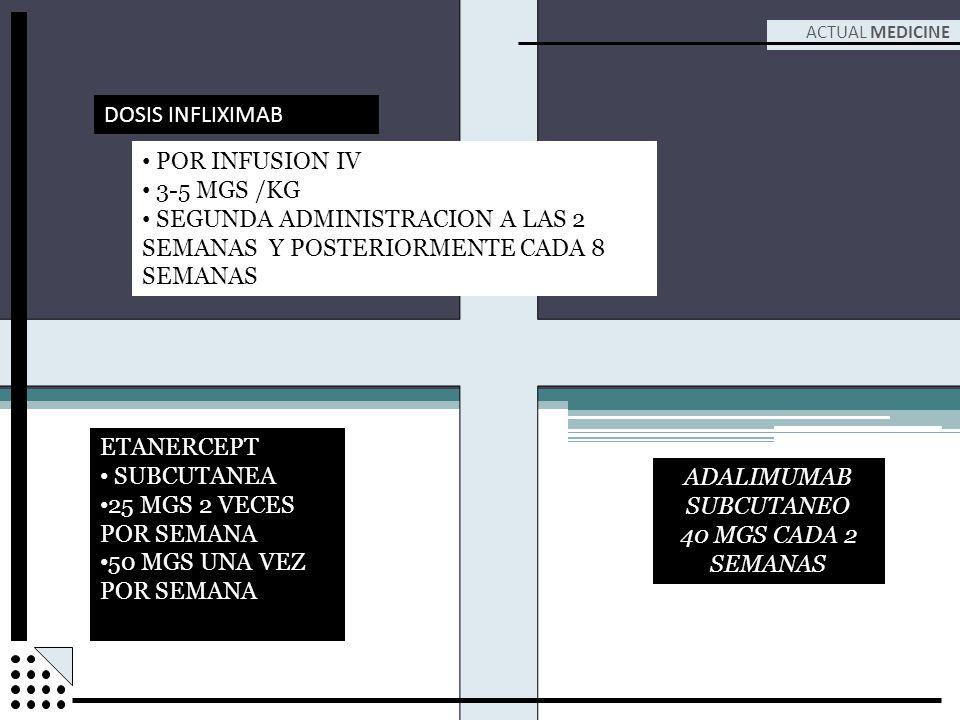 SEGUNDA ADMINISTRACION A LAS 2 SEMANAS Y POSTERIORMENTE CADA 8 SEMANAS