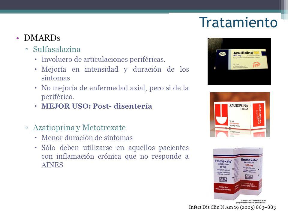 Tratamiento DMARDs Sulfasalazina Azatioprina y Metotrexate