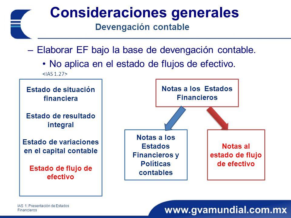 Consideraciones generales Devengación contable