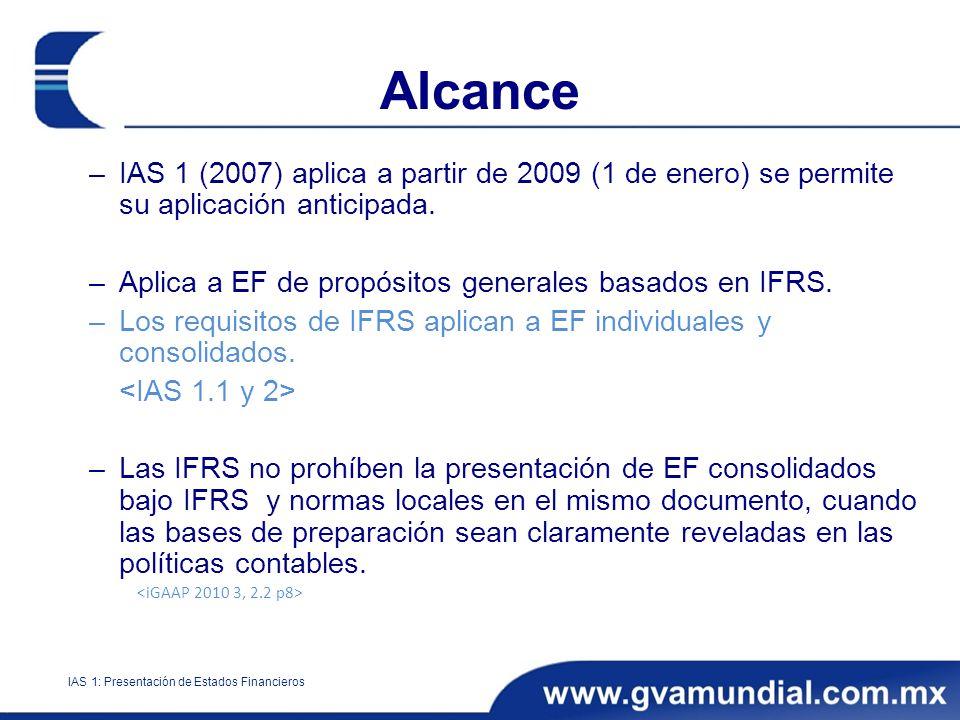 IAS 1: Presentación de Estados Financieros