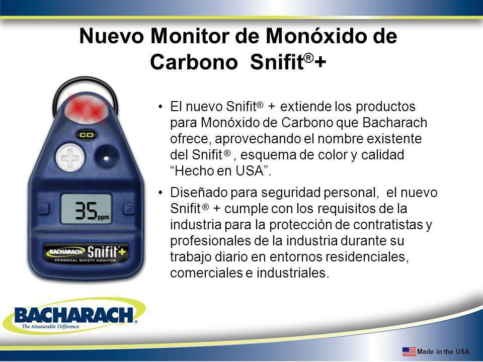 Nuevo Monitor de Monóxido de Carbono Snifit®+