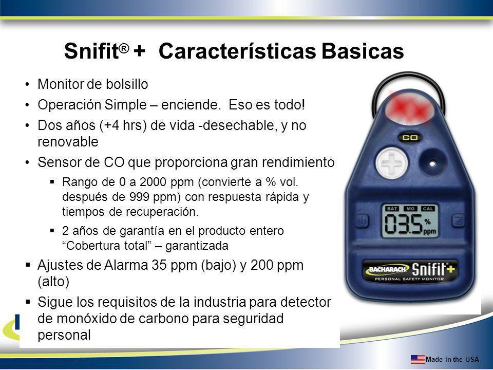 Snifit® + Características Basicas