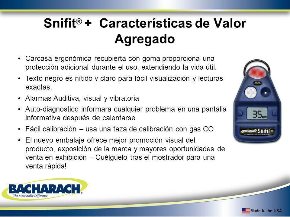Snifit® + Características de Valor Agregado