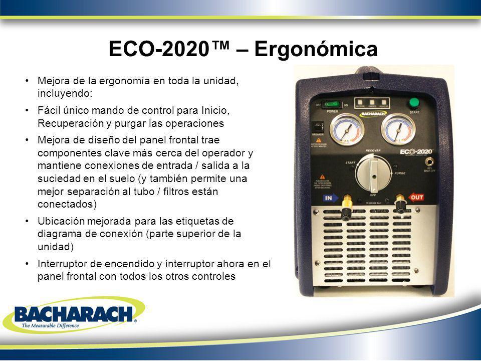 ECO-2020™ – Ergonómica Mejora de la ergonomía en toda la unidad, incluyendo: