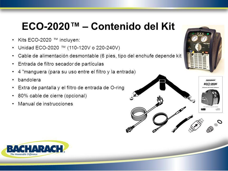 ECO-2020™ – Contenido del Kit