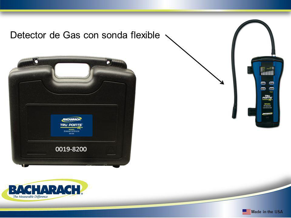 Detector de Gas con sonda flexible