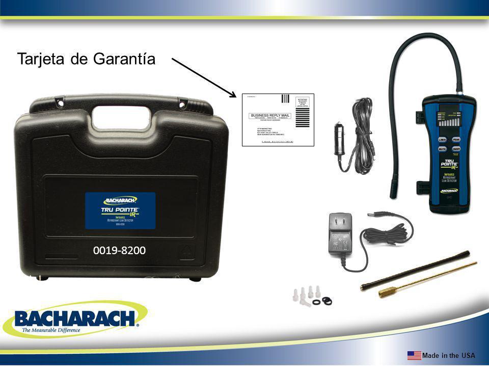 Tarjeta de Garantía 0019-8200