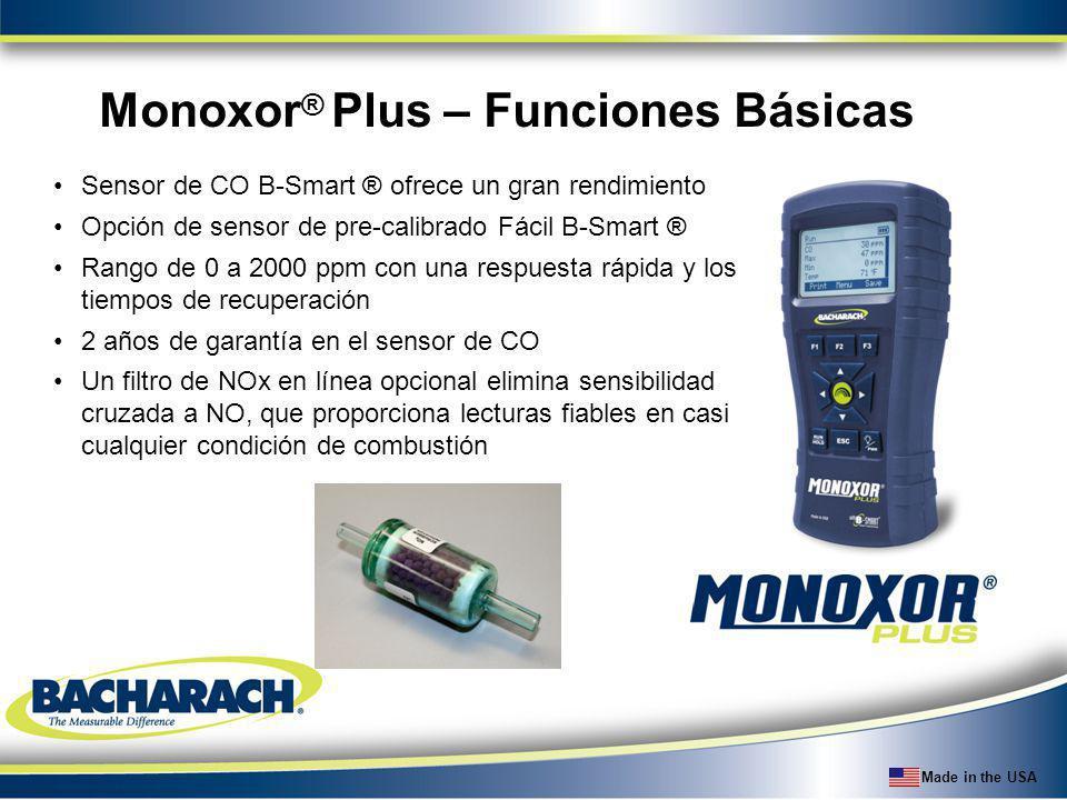 Monoxor® Plus – Funciones Básicas