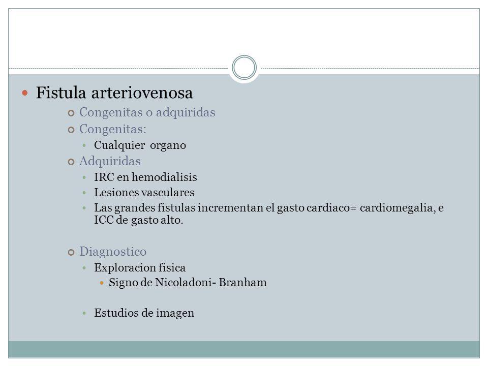 Fistula arteriovenosa