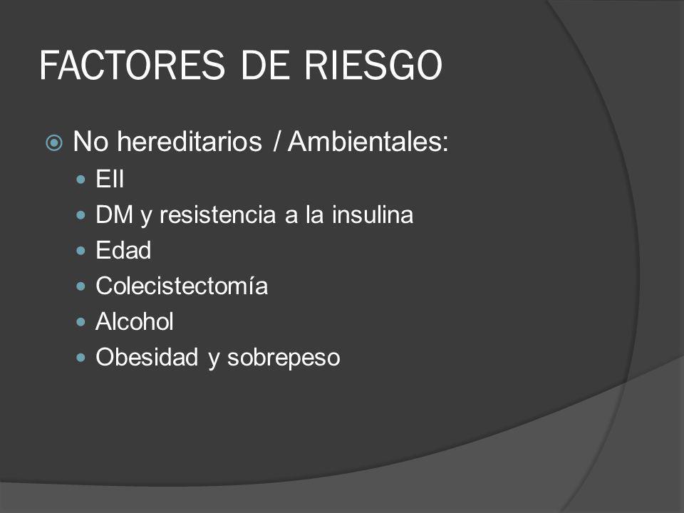 FACTORES DE RIESGO No hereditarios / Ambientales: EII