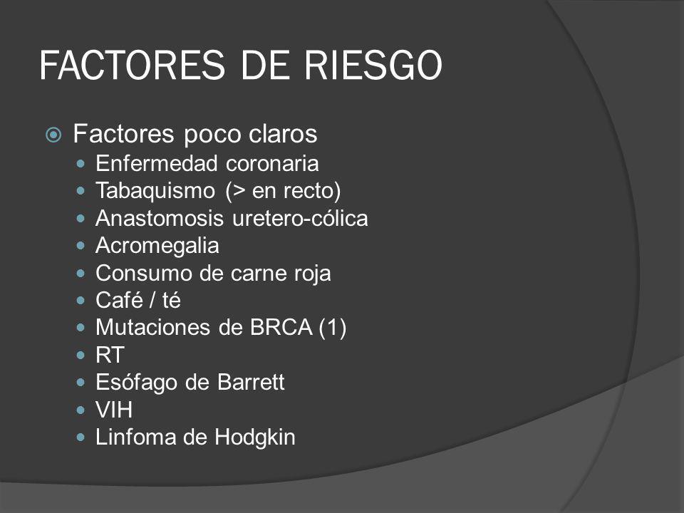 FACTORES DE RIESGO Factores poco claros Enfermedad coronaria