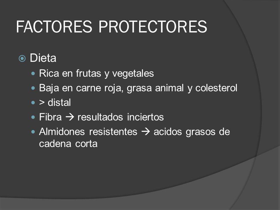 FACTORES PROTECTORES Dieta Rica en frutas y vegetales