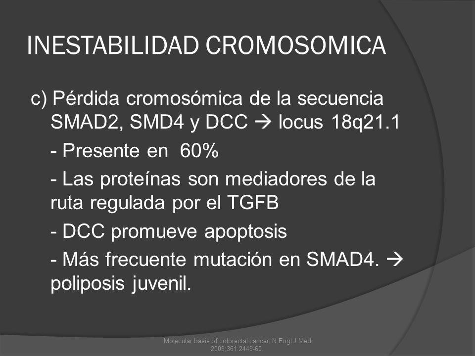 INESTABILIDAD CROMOSOMICA