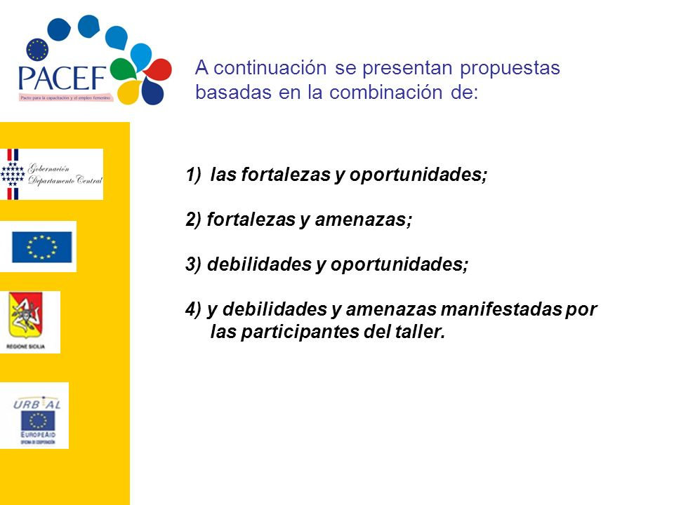 A continuación se presentan propuestas basadas en la combinación de: