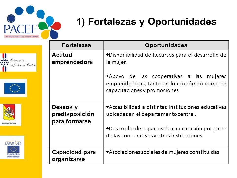 1) Fortalezas y Oportunidades